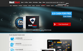 NetBet Poker homepage