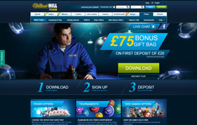 William Hill Poker homepage